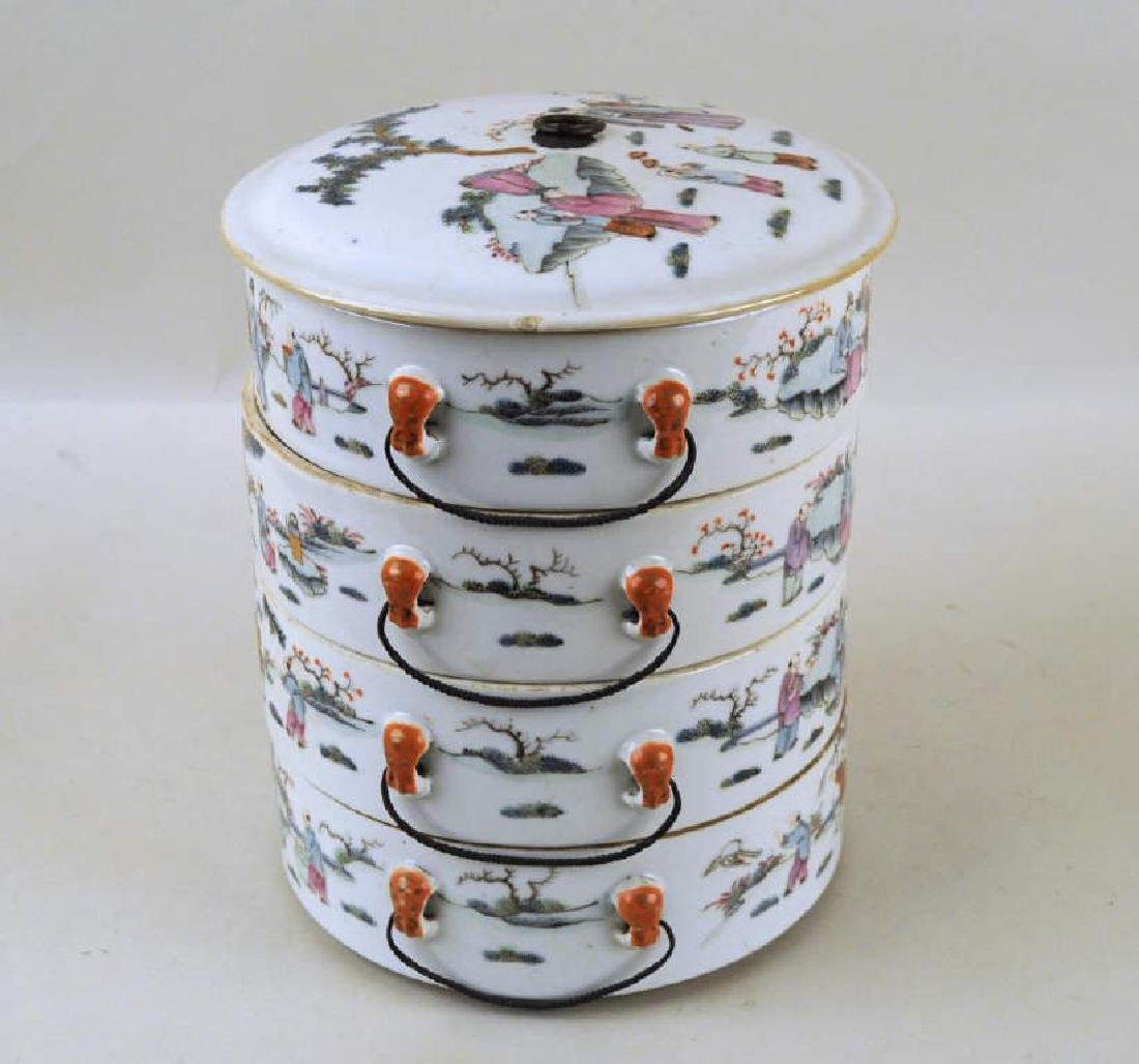 Chinese Porcelain Four-Tier Food Container - 3