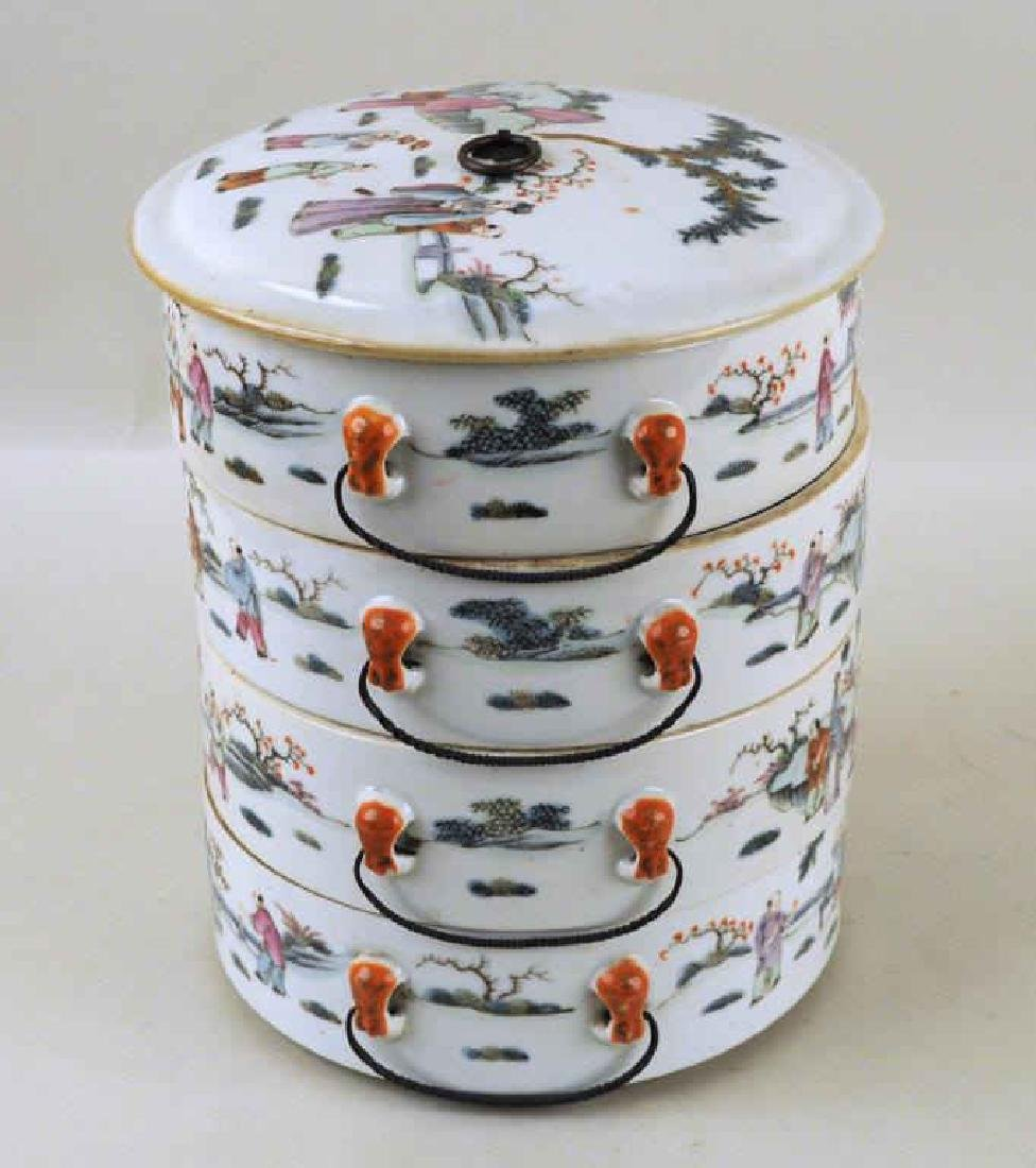 Chinese Porcelain Four-Tier Food Container - 4
