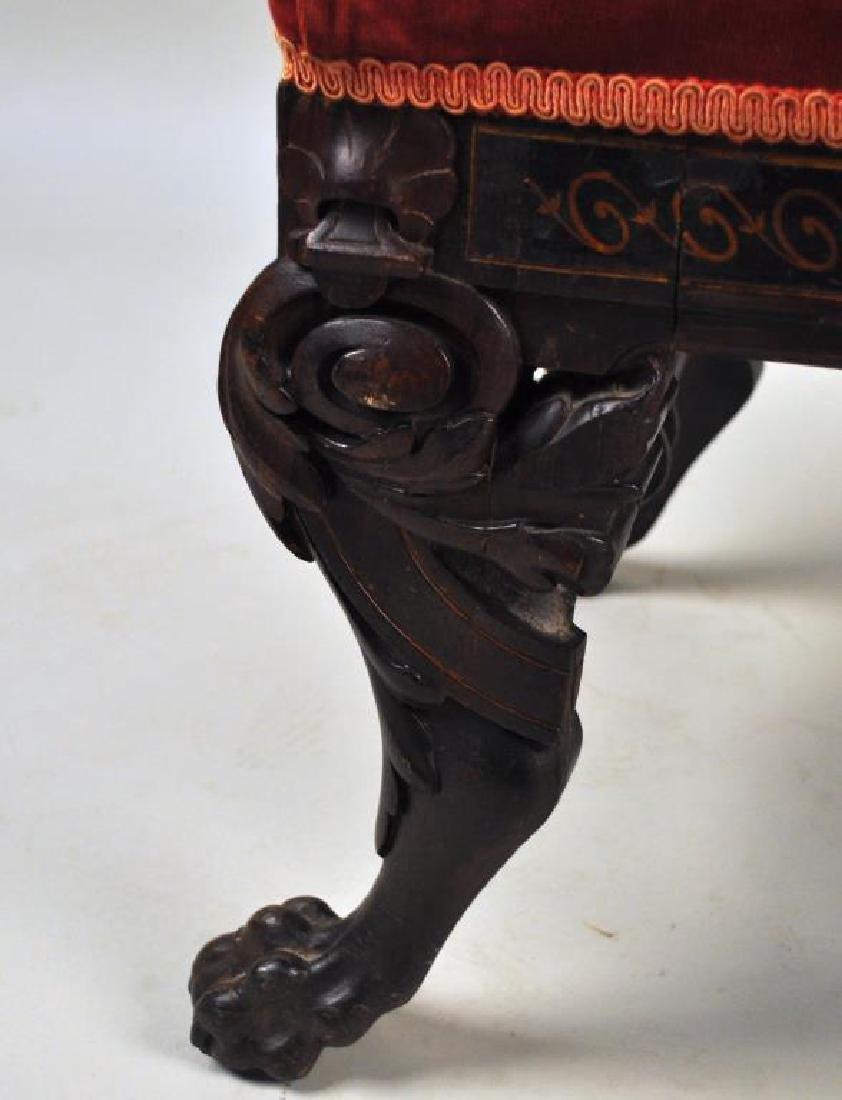 Victorian Carved Velvet Upholstered Chair - 10