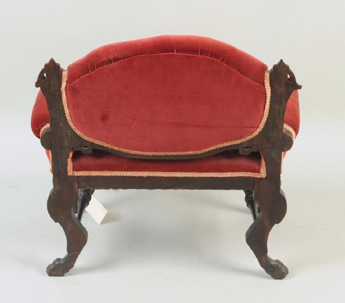 Victorian Carved Velvet Upholstered Chair - 2
