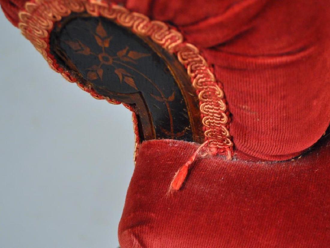 Victorian Carved Velvet Upholstered Chair - 7