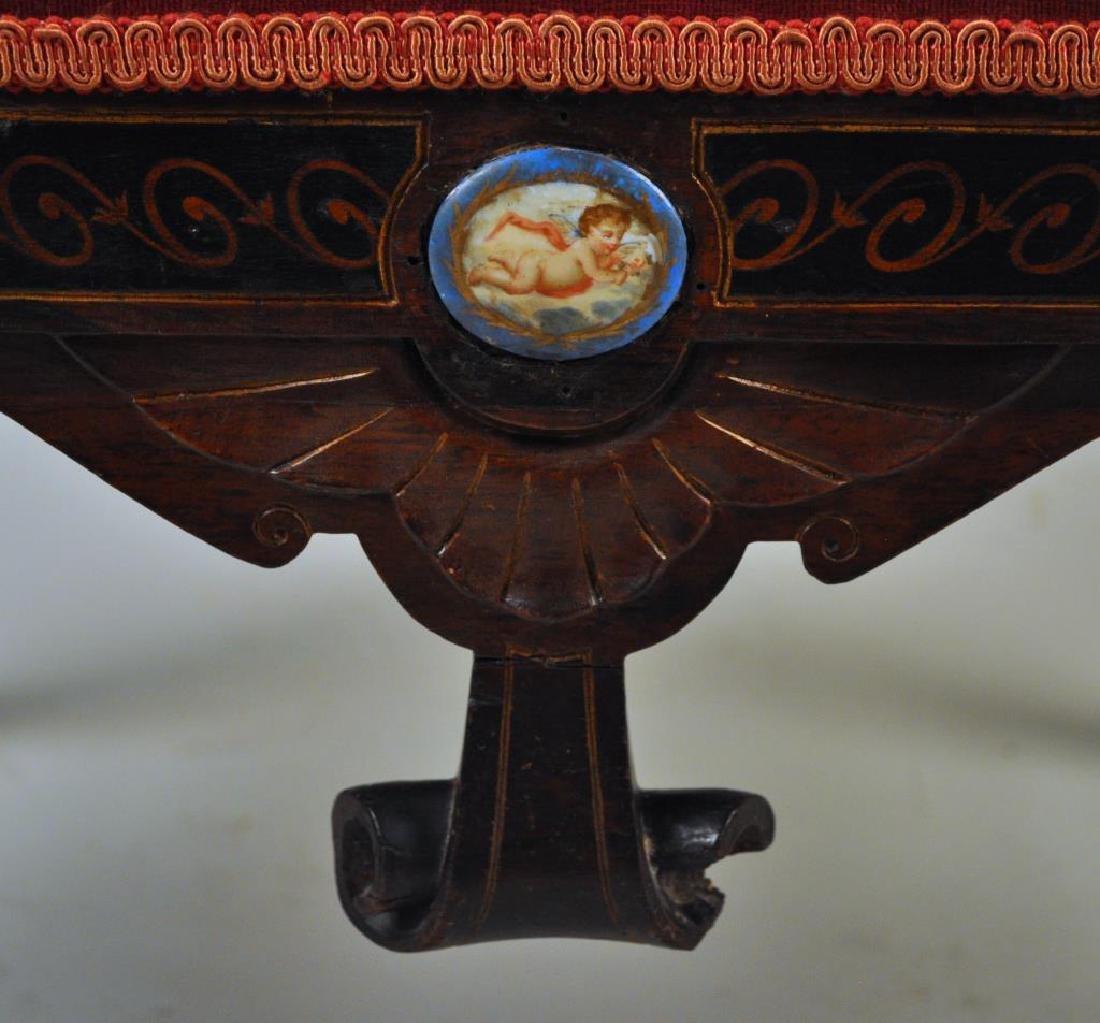 Victorian Carved Velvet Upholstered Chair - 8