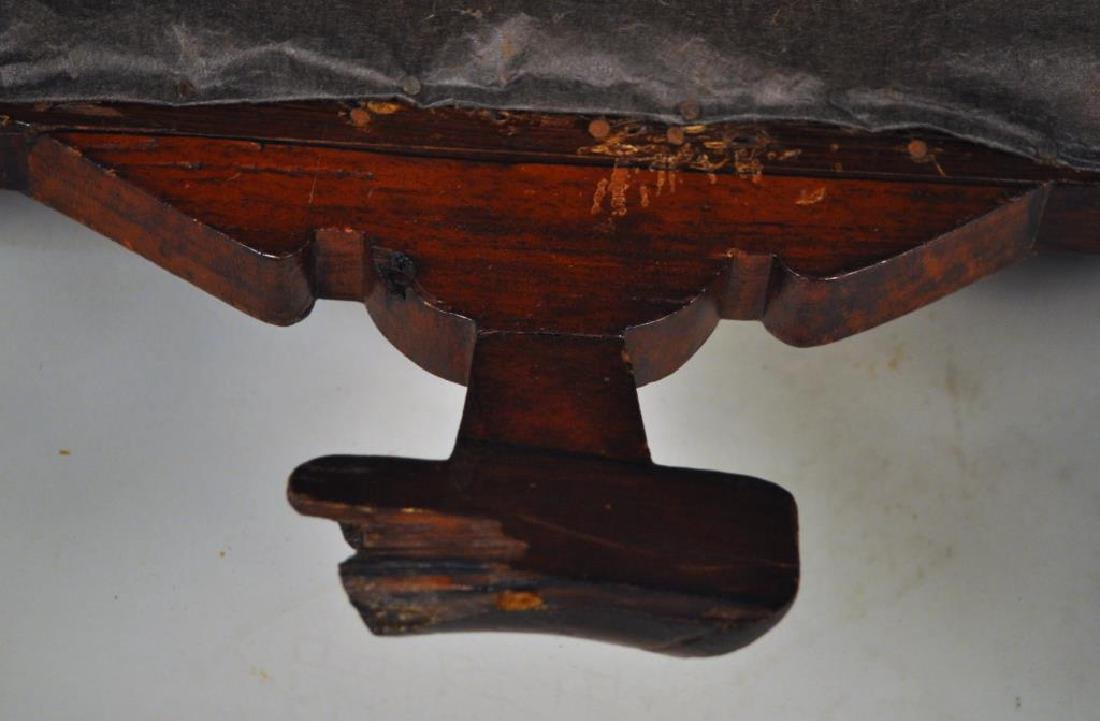 Victorian Carved Velvet Upholstered Chair - 9