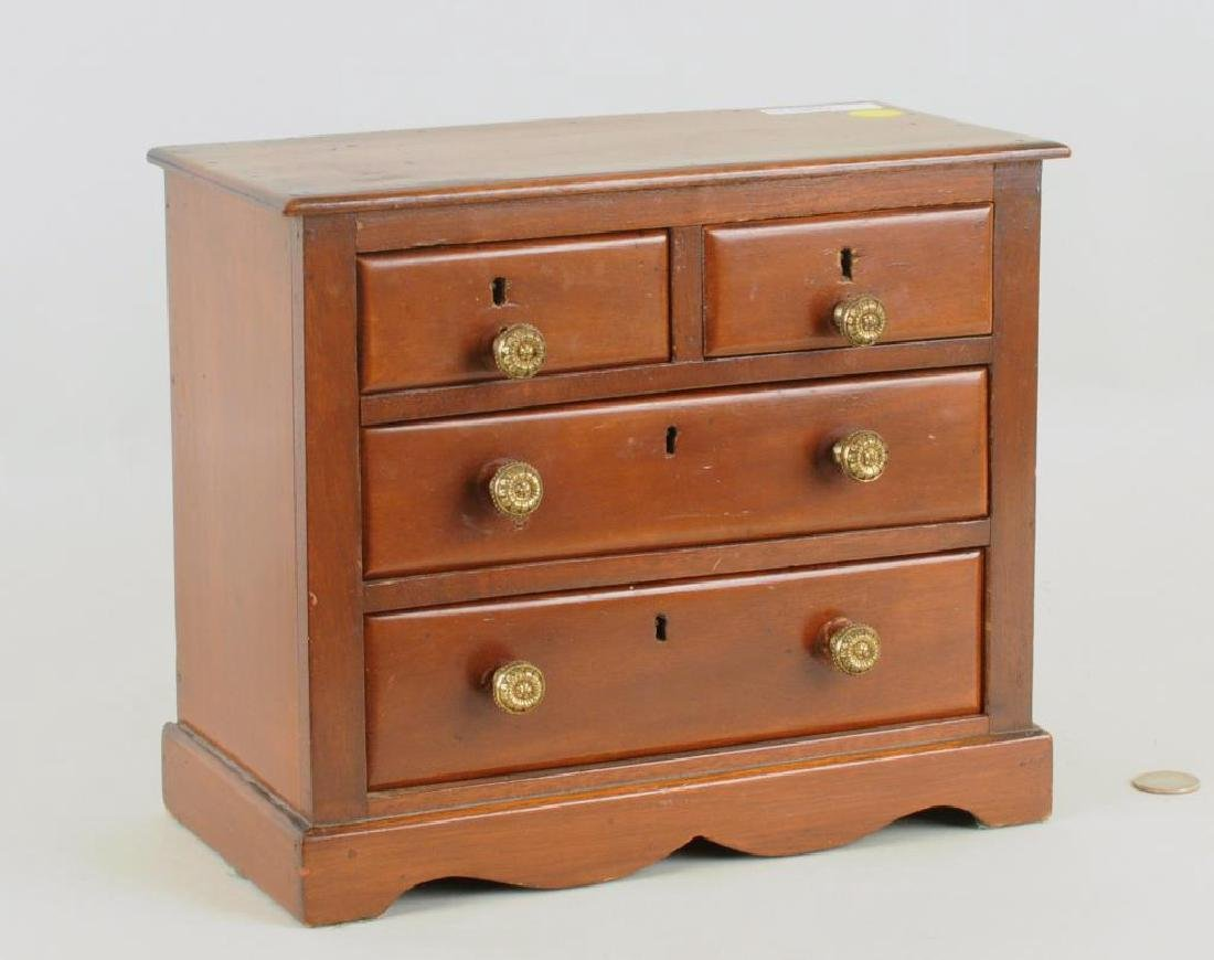 Miniature Mahogany Chippendale Style Chest