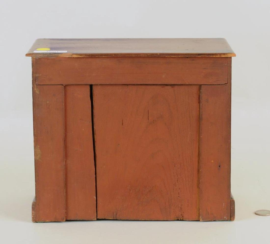 Miniature Mahogany Chippendale Style Chest - 2