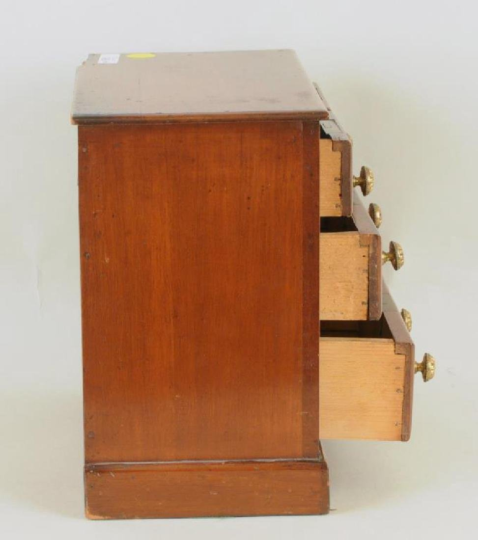 Miniature Mahogany Chippendale Style Chest - 3
