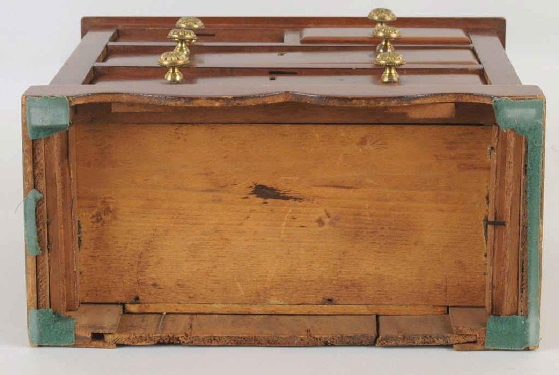 Miniature Mahogany Chippendale Style Chest - 4