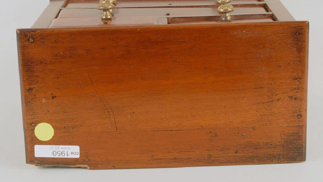 Miniature Mahogany Chippendale Style Chest - 5