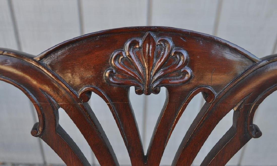 Set Ten Chippendale Style Mahogany Dining Chairs - 5