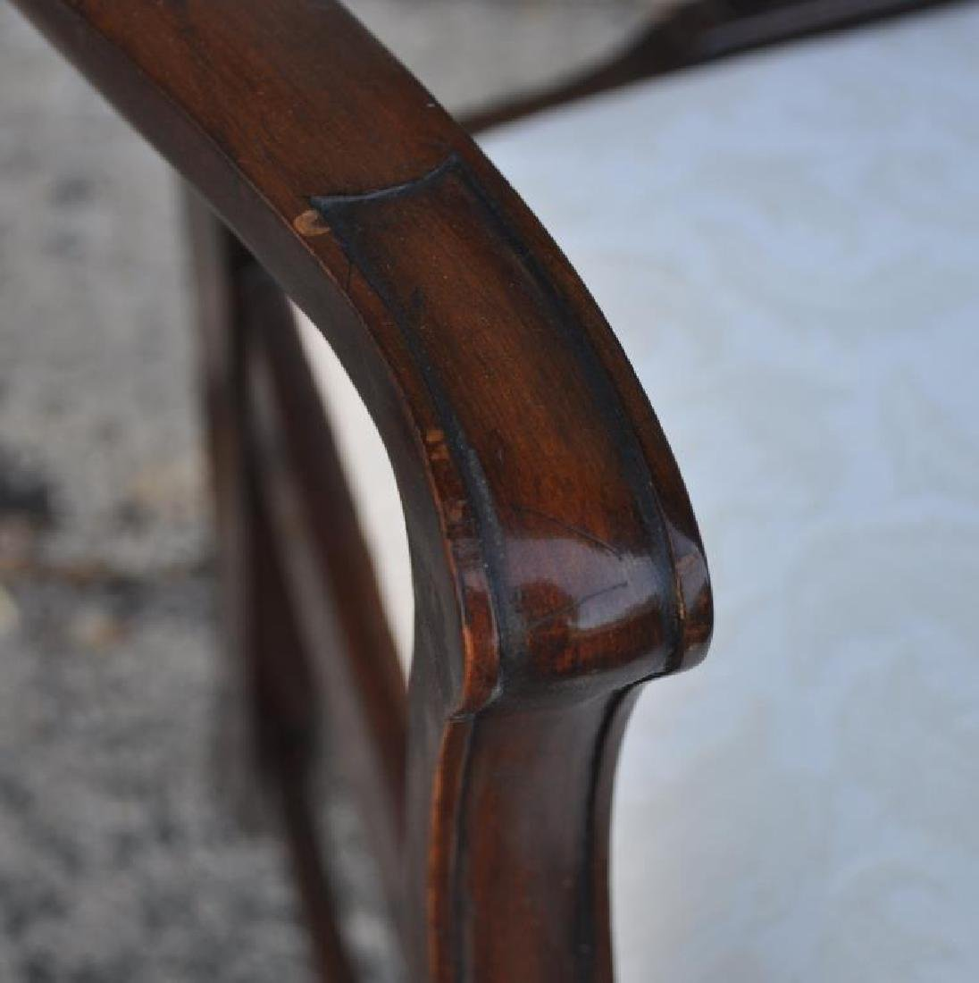 Set Ten Chippendale Style Mahogany Dining Chairs - 7