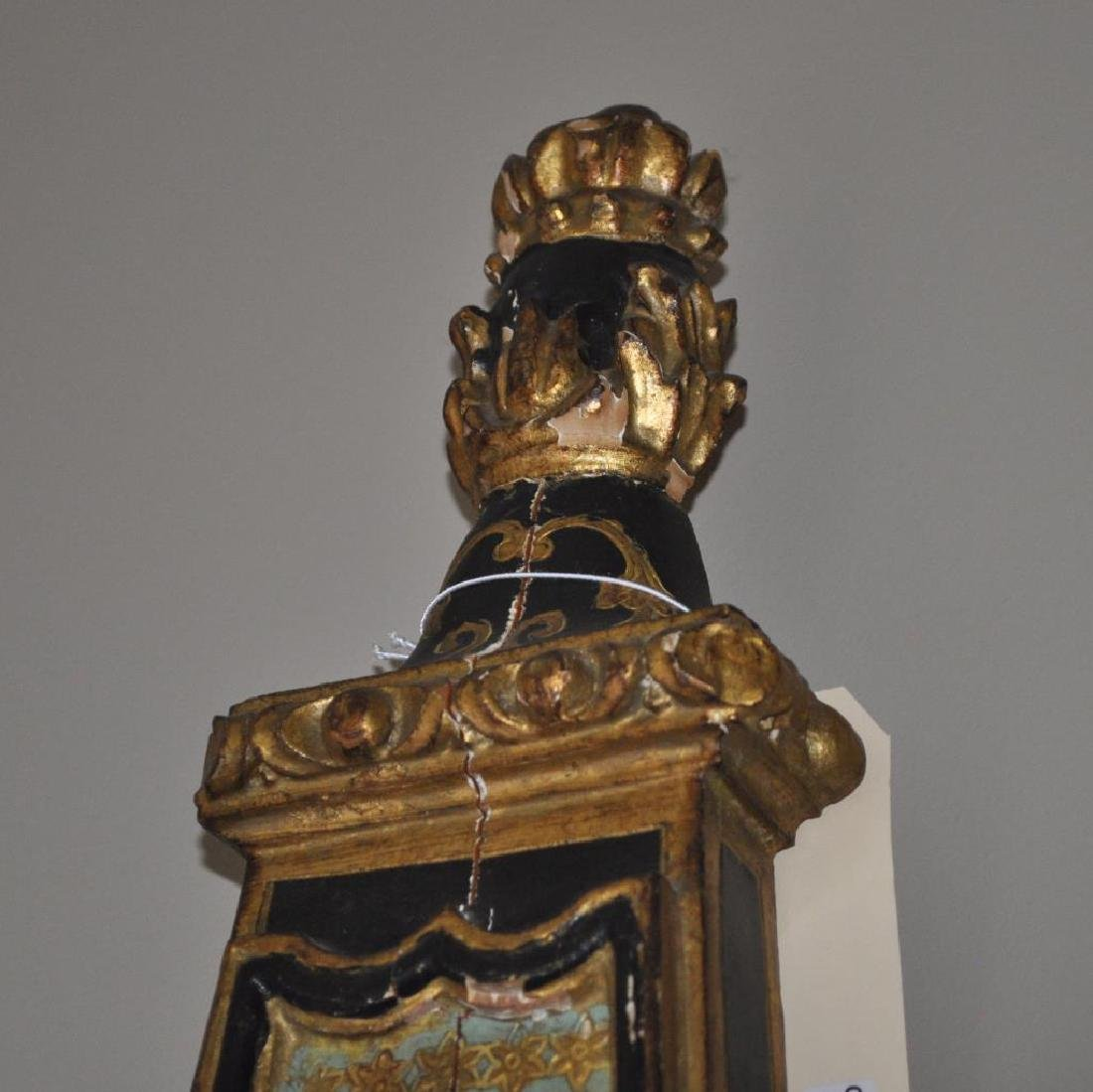 French Decorated Gilt Barometer Form Clock - 2