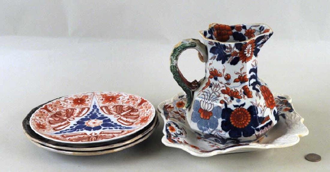 Five English Porcelain Transferware Items