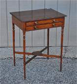 English Sheraton Two Drawer Work Table