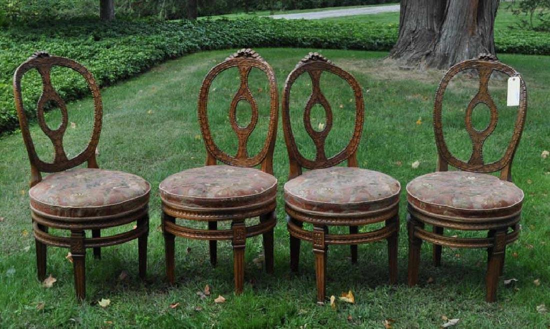 Four Continental Neoclassical Style Parlor Chairs