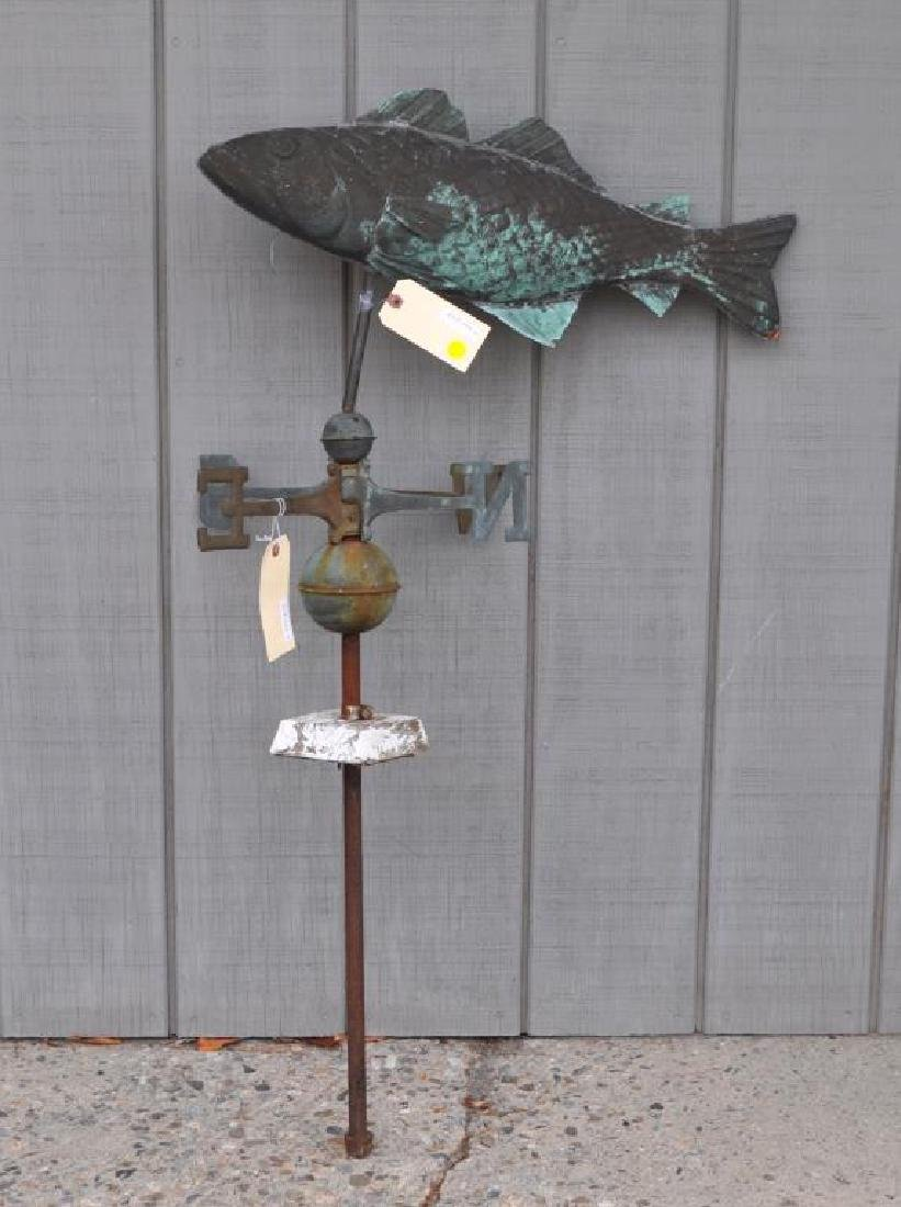 Molded Copper Fish Weathervane & Directionals - 2