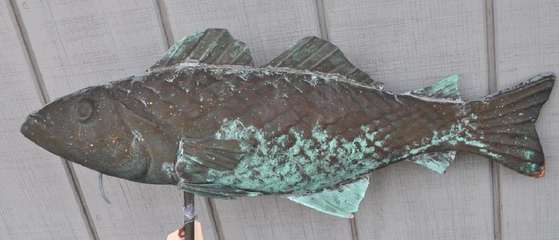 Molded Copper Fish Weathervane & Directionals - 3