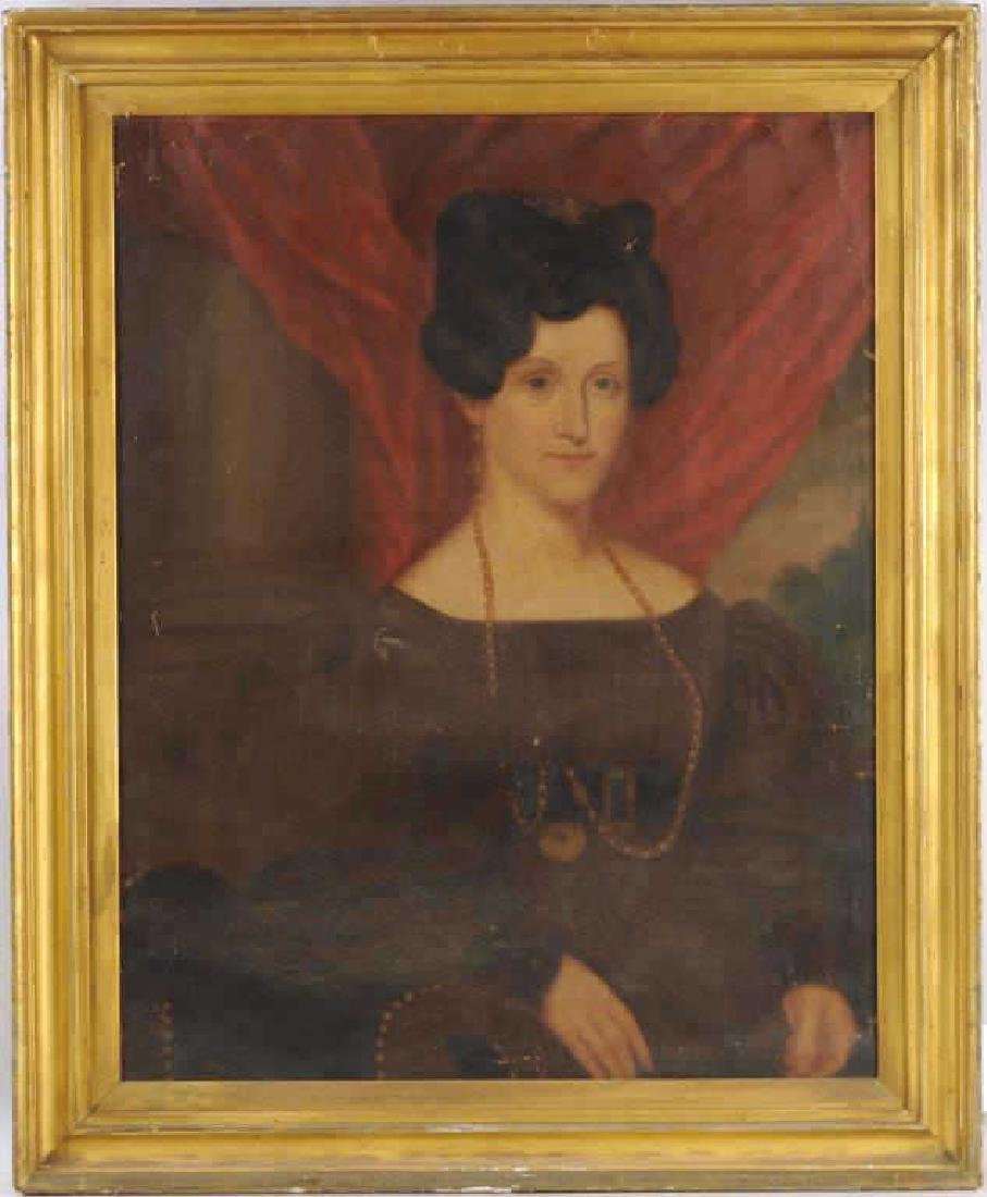 Folk Portrait Of Finely Attired Woman