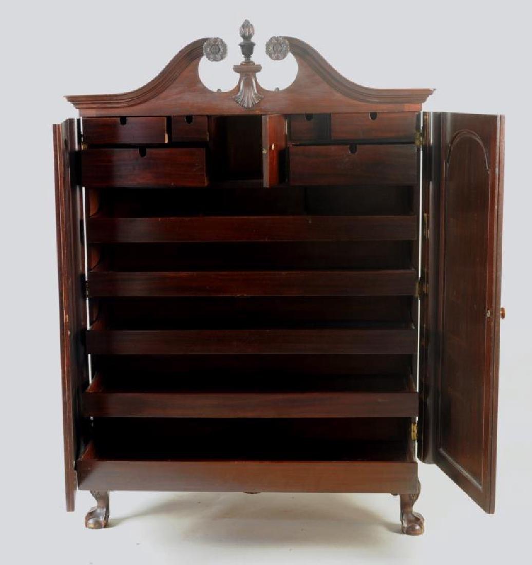 Poss. Margolis Chippendale Linen Cabinet - 2
