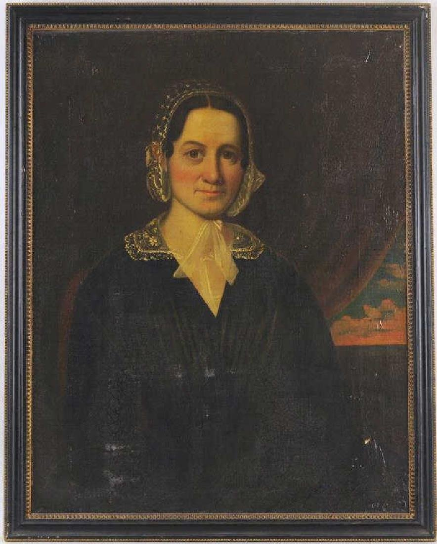 American Folk Art Portrait, Gertrude Schuyler O/C - 2