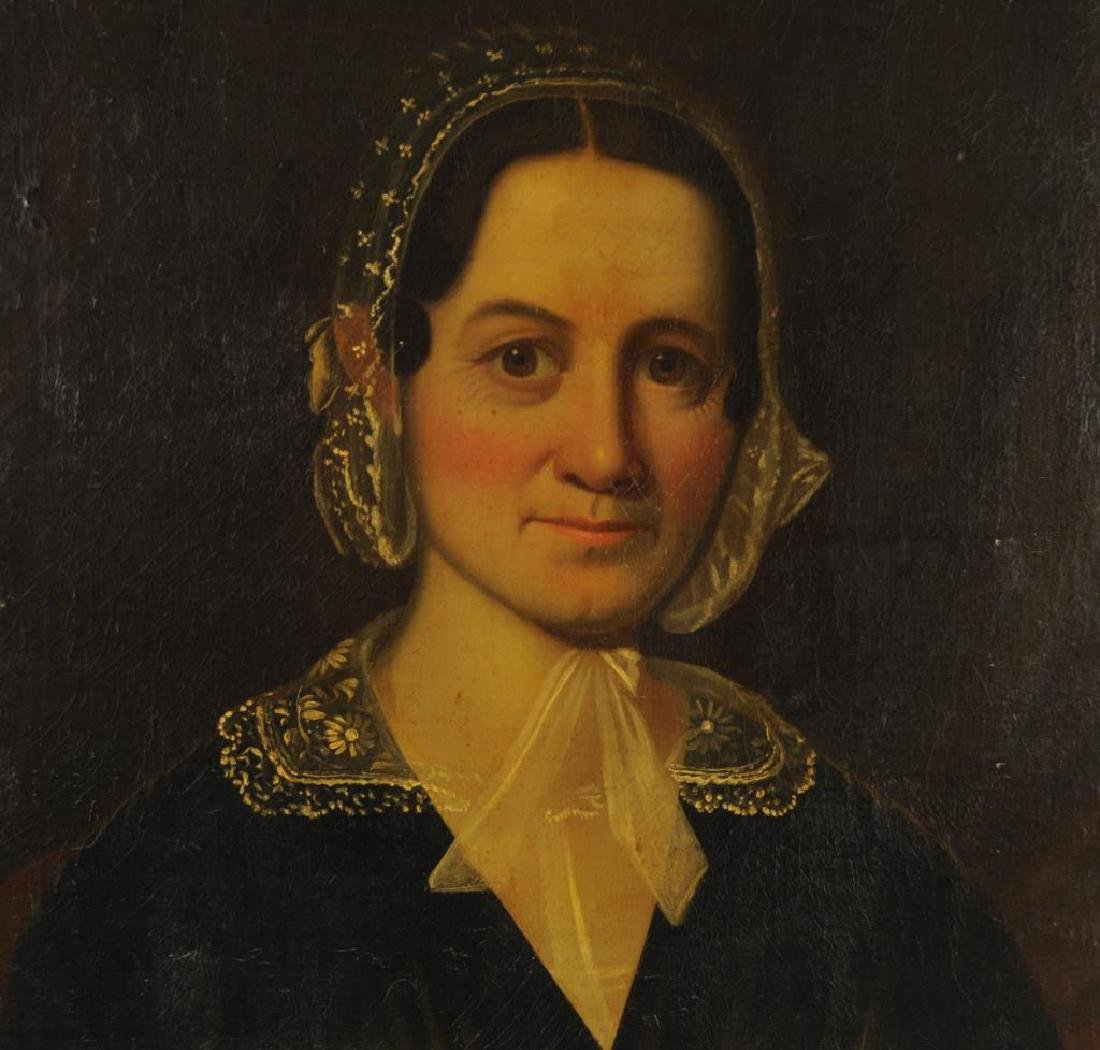 American Folk Art Portrait, Gertrude Schuyler O/C - 5