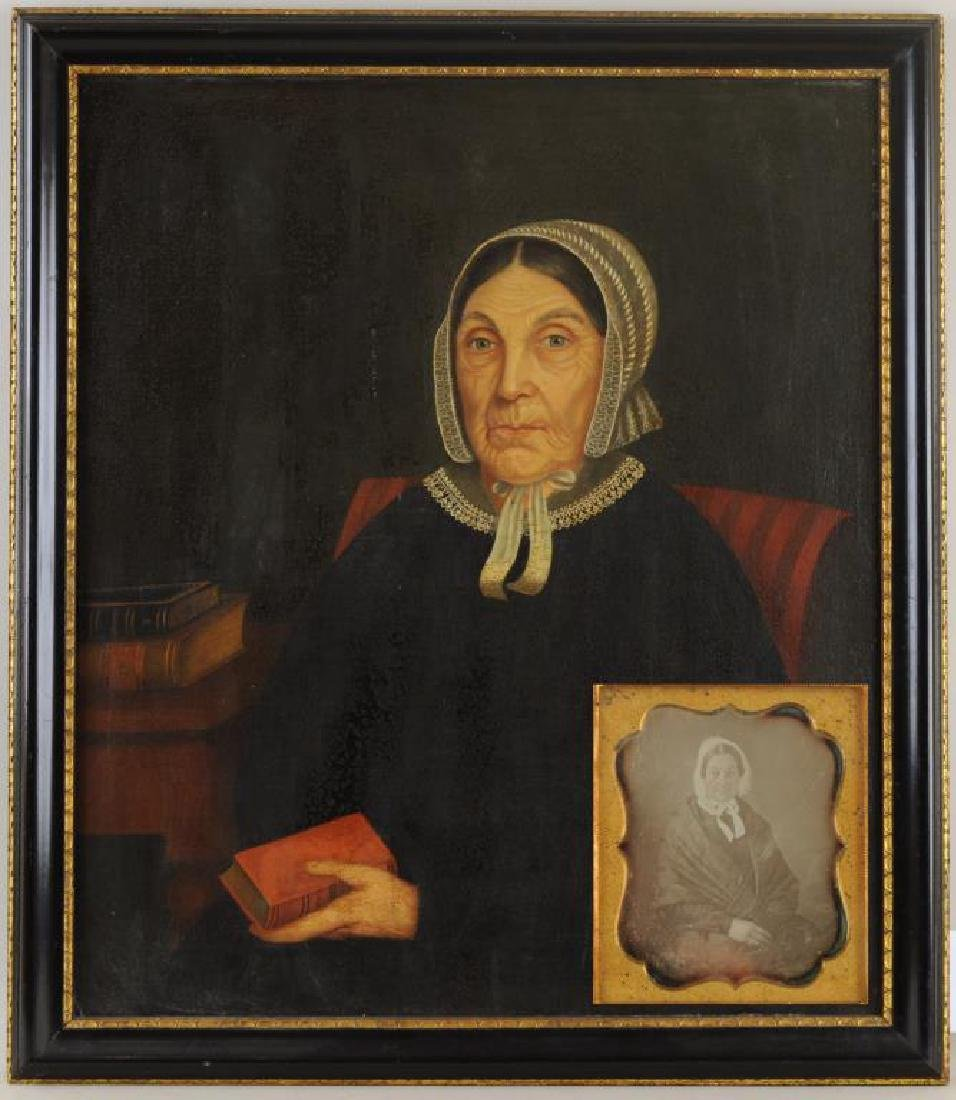 Amer. Folk Art Portrait Mother - Gertrude Schuyler