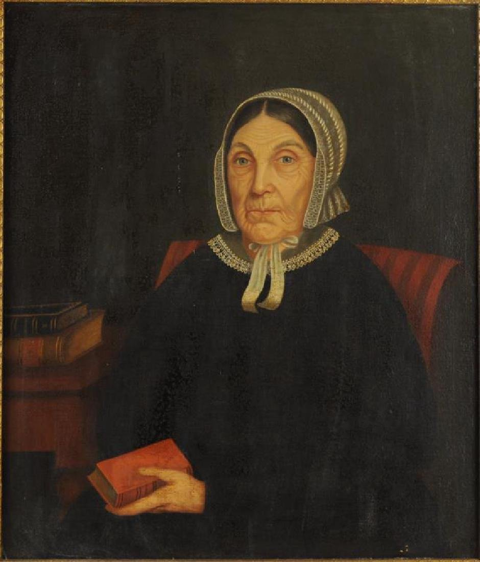 Amer. Folk Art Portrait Mother - Gertrude Schuyler - 4