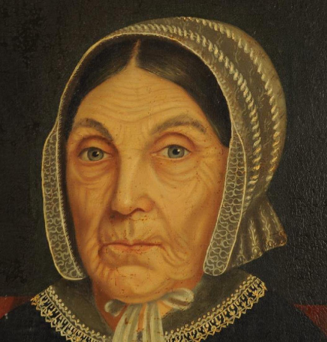 Amer. Folk Art Portrait Mother - Gertrude Schuyler - 5