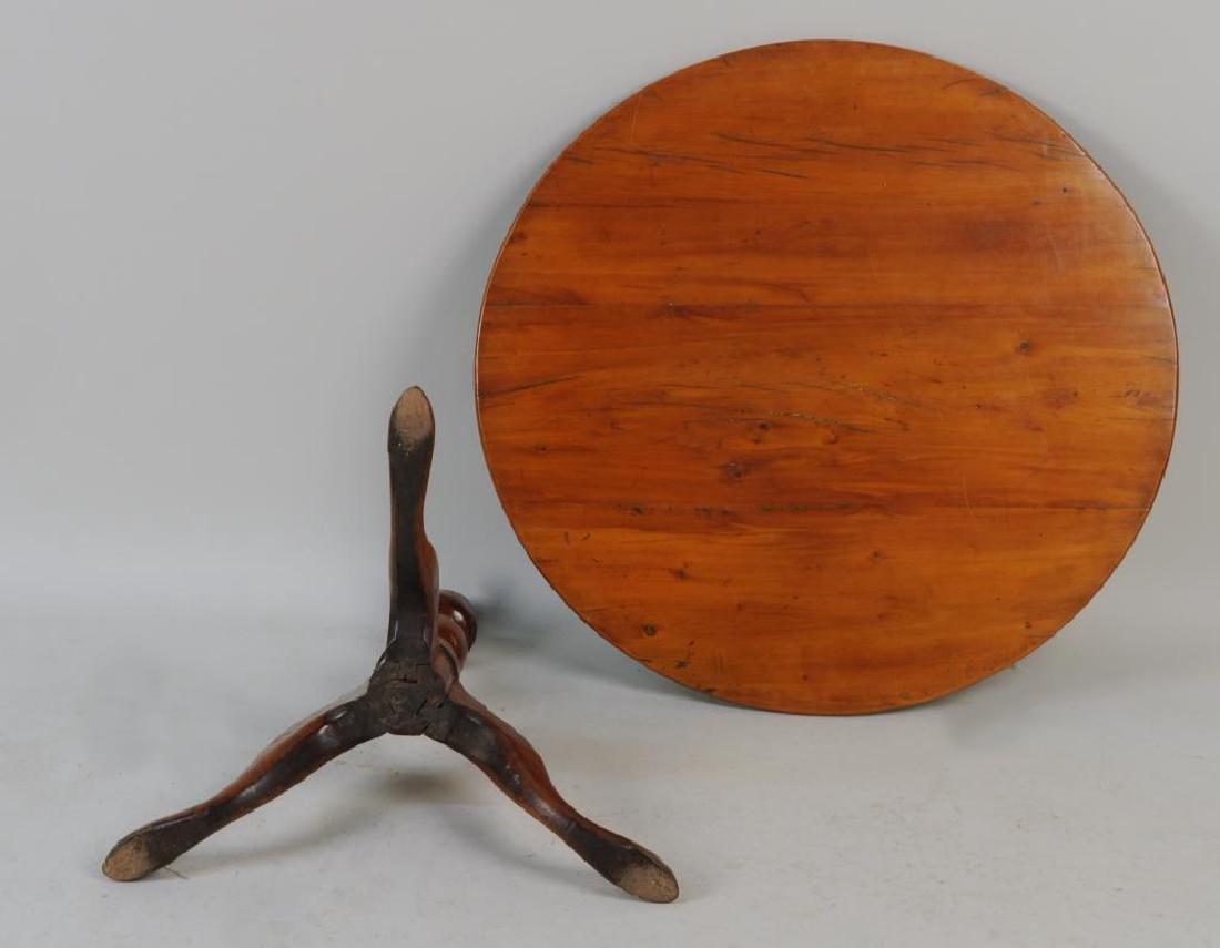CT Cherrywood Queen Anne Tea Table - 3