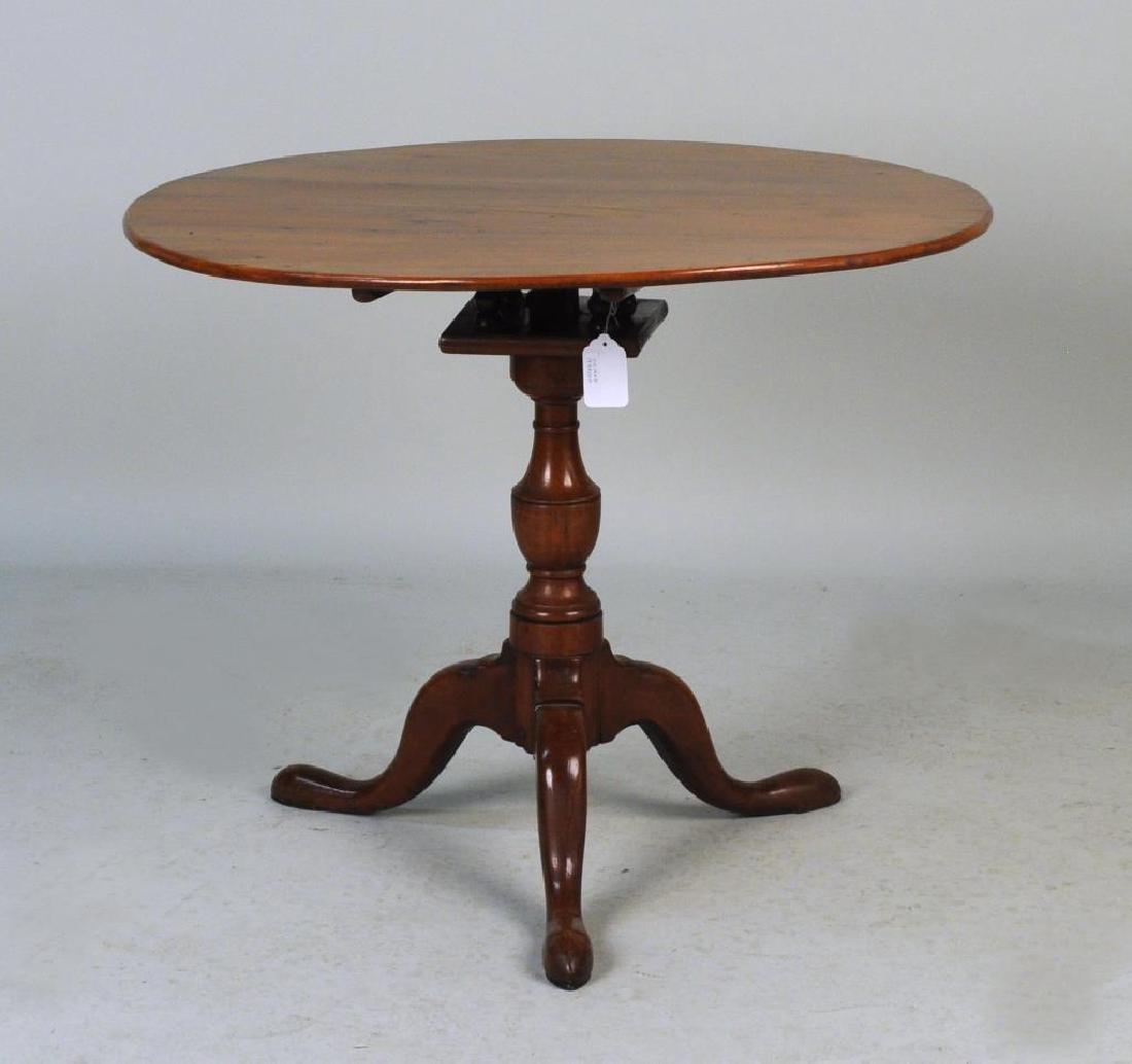 CT Cherrywood Queen Anne Tea Table - 4