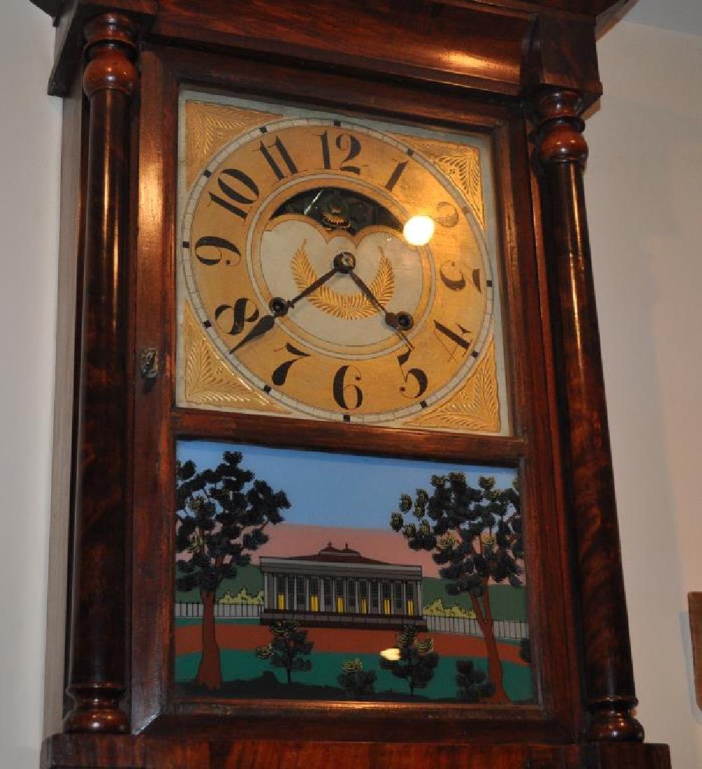 Large Federal Eglomise Mantle Clock - 2