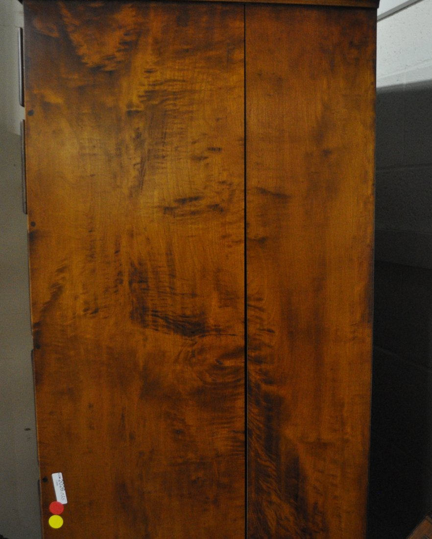 E. Wheeler, Queen Anne Style Tiger Maple Highboy - 3