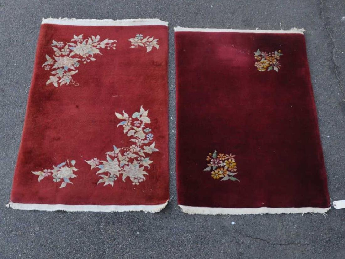 Two Similar Chinese Art Deco Rugs
