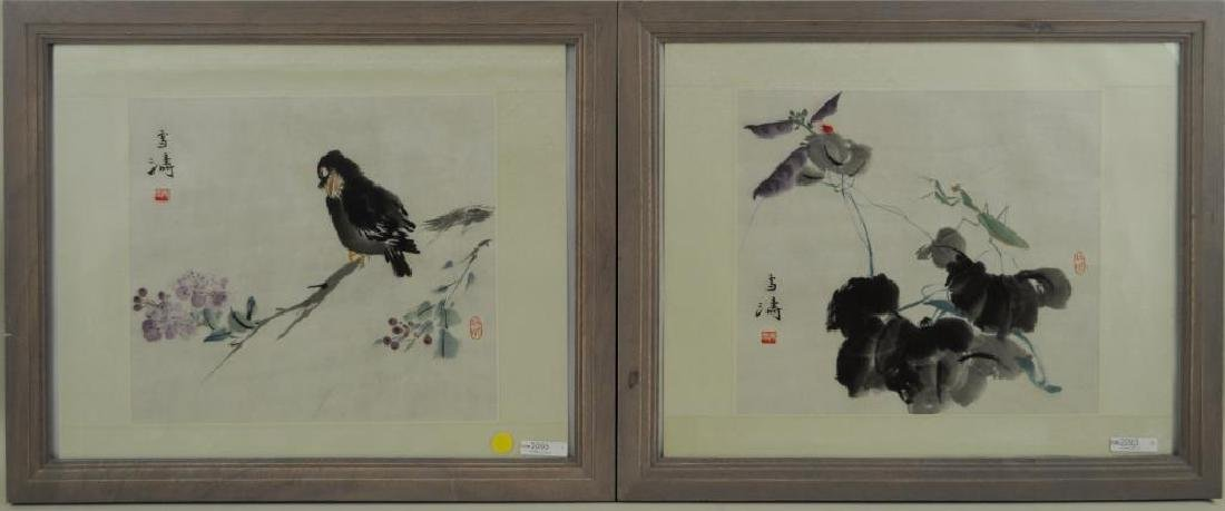 Two Chinese Paintings Attr. Wang Xuetao