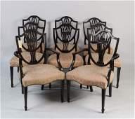 Set Eight George III Mahogany Dining Chairs