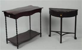 Estate Group Two Antique Tables