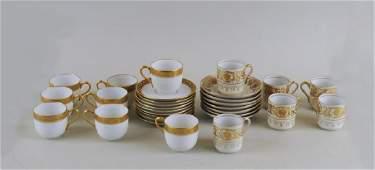 Two Partial Gilt Porcelain Demitasse Sets