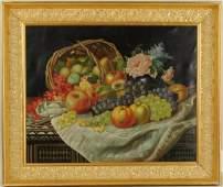 Edward Beyer, Still Life With Fruit O/C