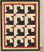 Vintage American Crib Quilt Cats