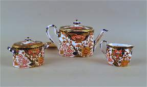 Three Piece Royal Crown Derby Tea Set