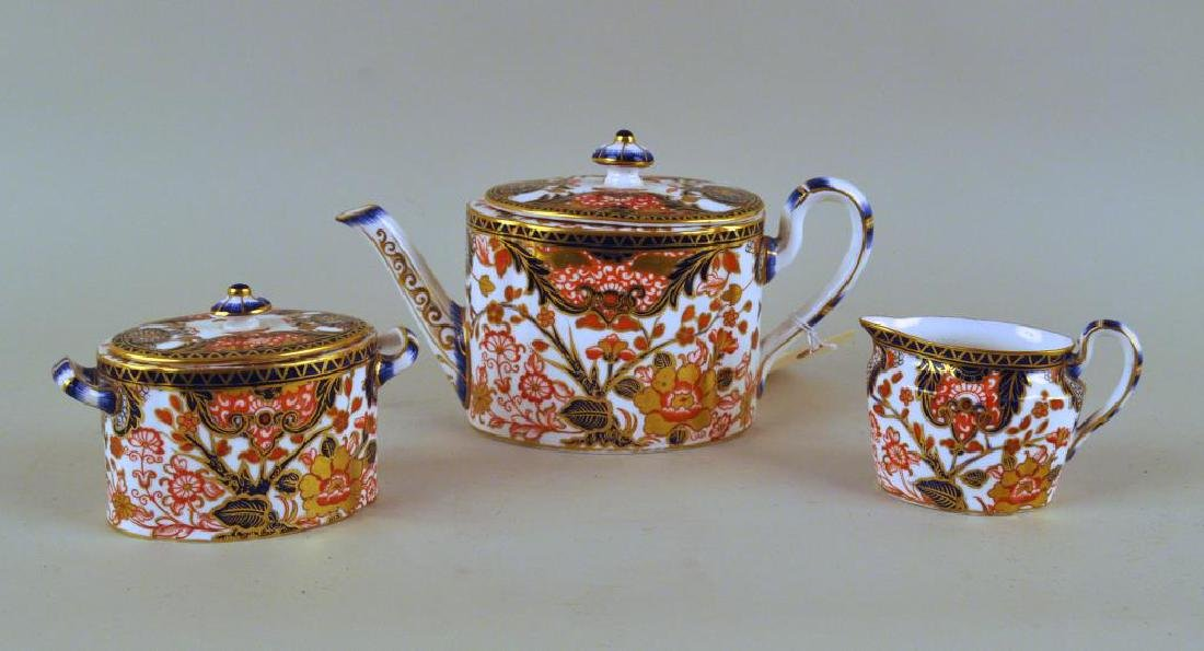 Three Piece Royal Crown Derby Tea Set - 2