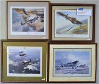 Robert Taylor Four RAF Colored WWII Prints
