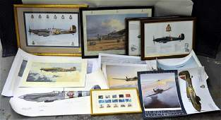 Group RAF WWII Commemorative Art Prints