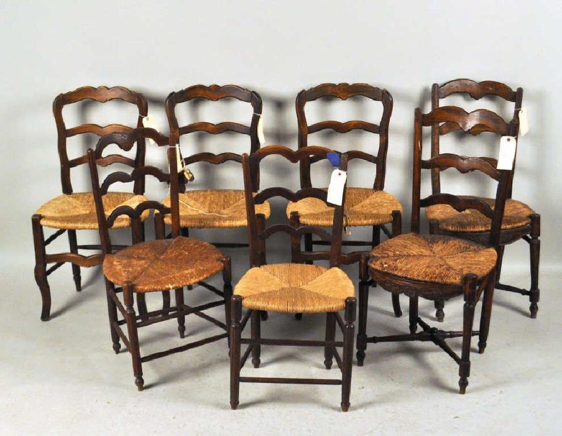 Estate Group Seven French Provincial Side Chairs
