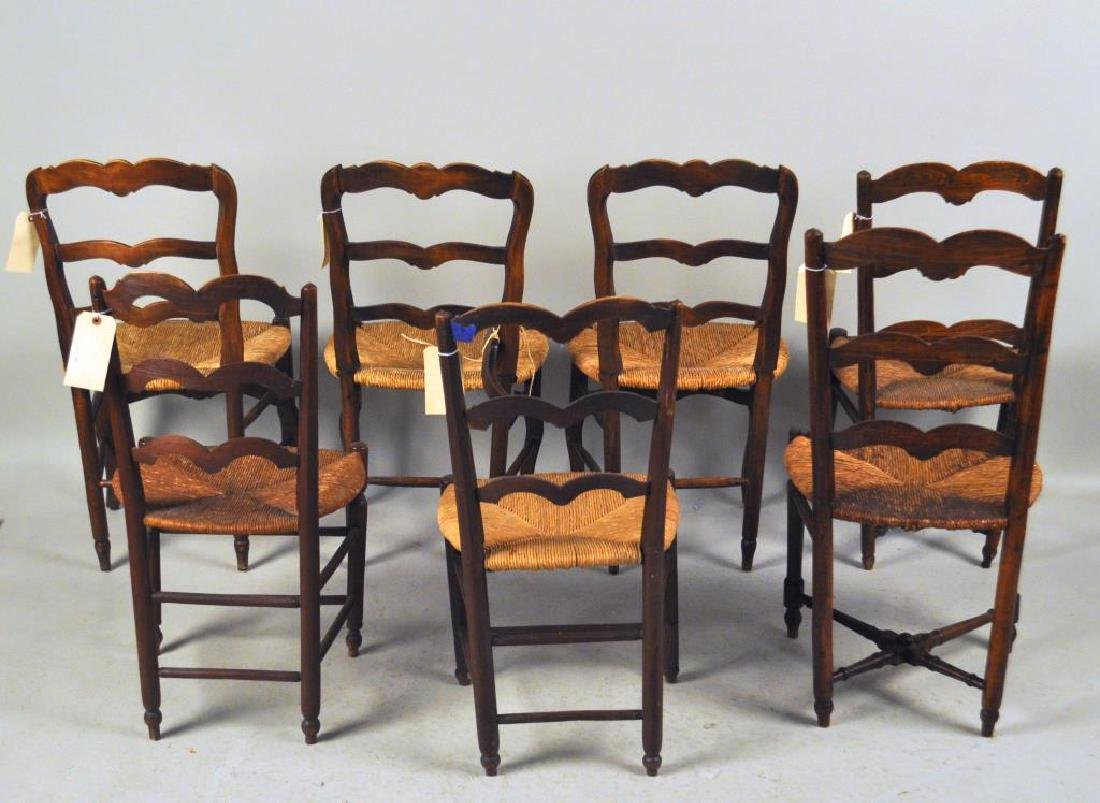 Estate Group Seven French Provincial Side Chairs - 2