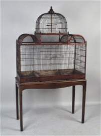 Fine George III Three Section Bird Cage On Stand