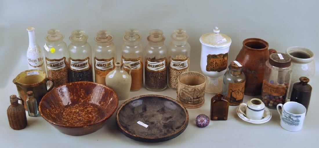 Group Apothecary Jars & Stoneware
