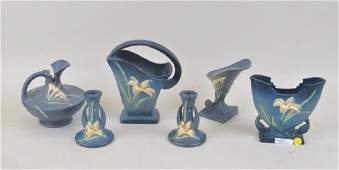 Group Of Six Roseville Pottery Items