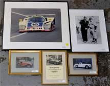 Four Framed Motorsport Photo Prints