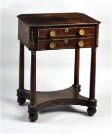 Bronze Mounted Classical Rosewood Work Table
