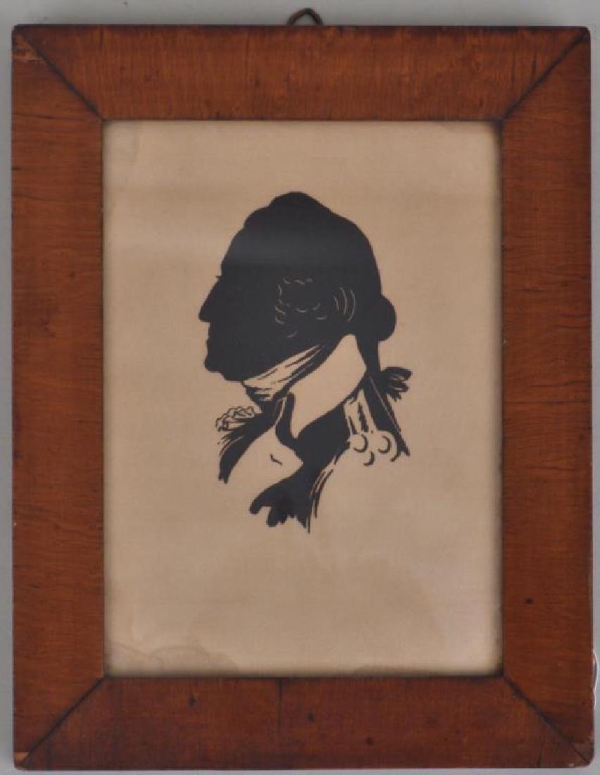 Cut Paper Silhouette of George Washington